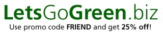Let's go green logo
