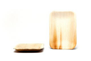 rectangular palm leaf plates